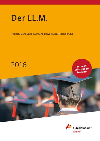 Der LLM 2016 - Das Expertenbuch zum Master of Laws - cover