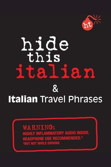 Hide This Italian Book - & Italian Travel Phrases - cover