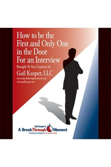 How to Be the First and Only One in the Door for an Interview - cover