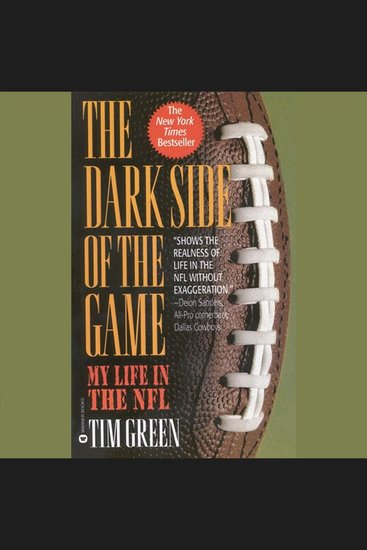 The Dark Side of the Game - My Life in the NFL - cover
