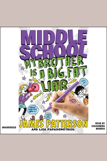 Middle School: My Brother Is a Big Fat Liar - cover