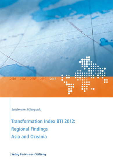 Tansformation Index BTI 2012: Regional Findings Asia and Oceania - cover