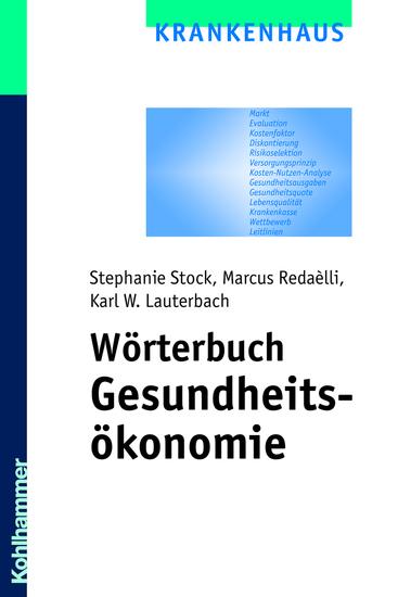 Wörterbuch Gesundheitsökonomie - cover