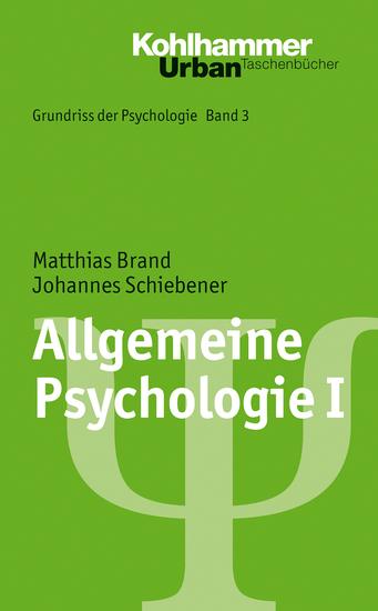 Allgemeine Psychologie I - cover