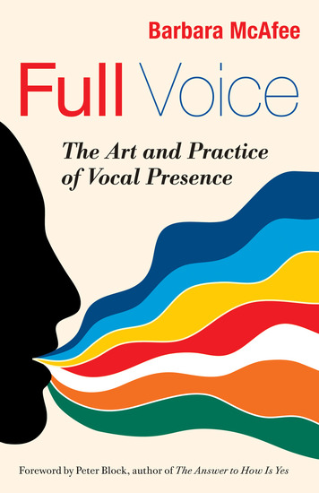 Full Voice - The Art and Practice of Vocal Presence - cover