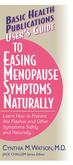 User's Guide to Easing Menopause Symptoms Naturally - cover