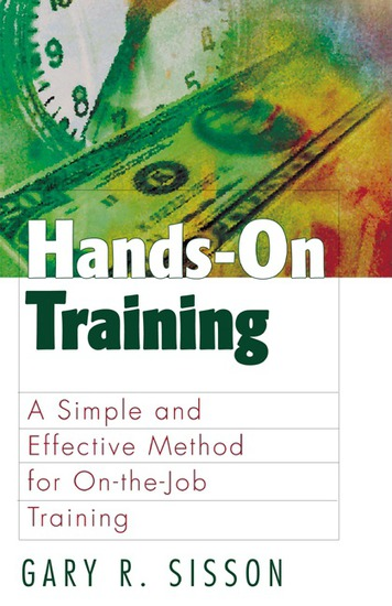 Hands-On Training - A Simple and Effective Method for On-the-Job Training - cover