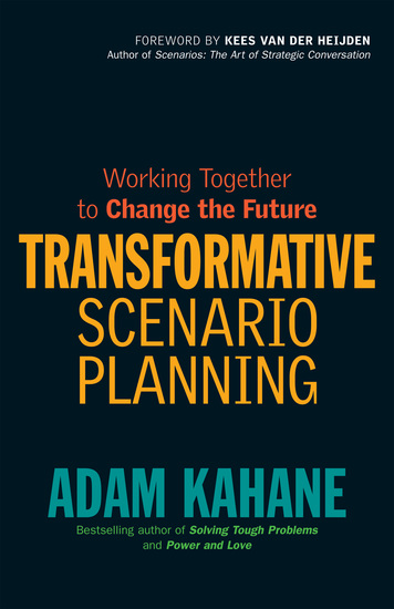 Transformative Scenario Planning - Working Together to Change the Future - cover