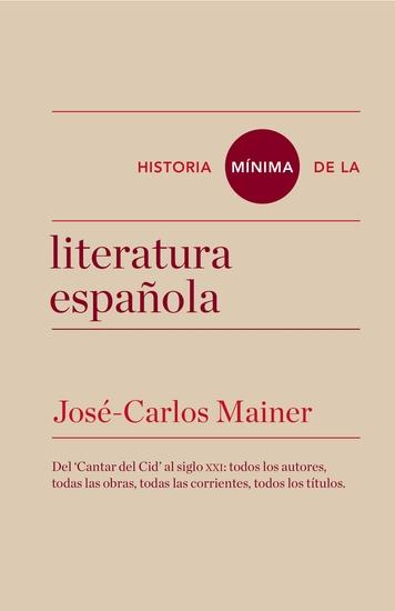 Historia mínima de la literatura española - cover
