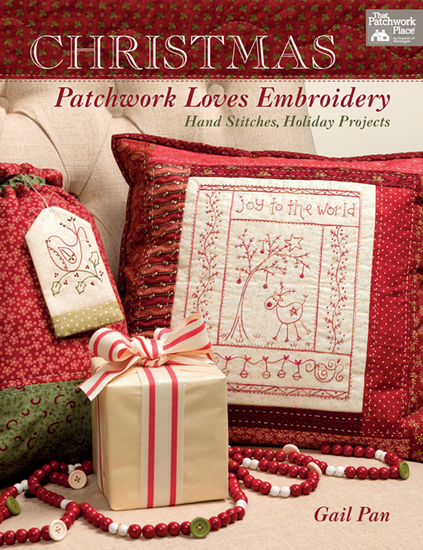Christmas Patchwork Loves Embroidery - Hand Stitches Holiday Projects - cover