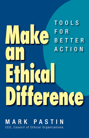 Make an Ethical Difference - Tools for Better Action - cover