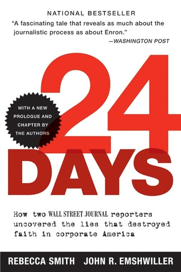 24 Days - How Two Wall Street Journal Reporters Uncovered the Lies that Destroyed Faith in Corporate America - cover