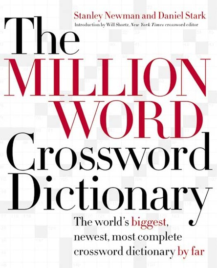 The Million Word Crossword Dictionary - cover