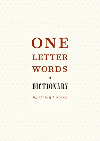 One-Letter Words a Dictionary - cover