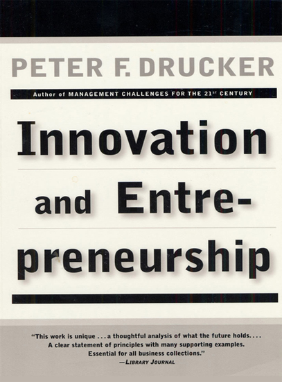 Innovation and Entrepreneurship - cover