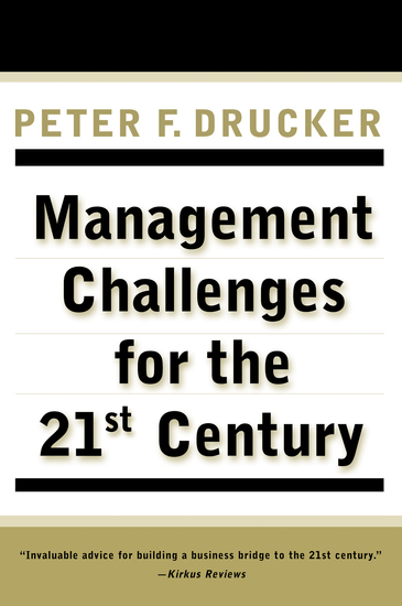 MANAGEMENT CHALLENGES for the 21st Century - cover