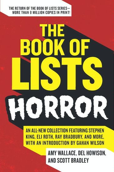 The Book of Lists: Horror - cover