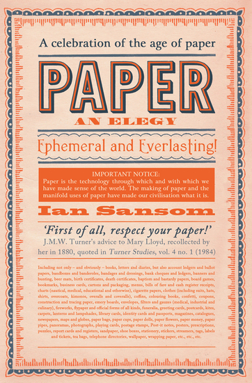 Paper - An Elegy - cover