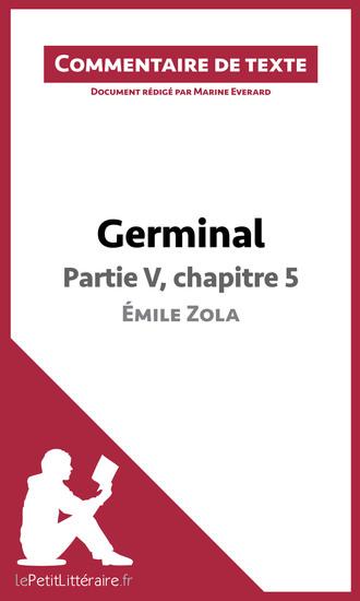 Germinal de Zola - Partie V chapitre 5 - Commentaire de texte - cover