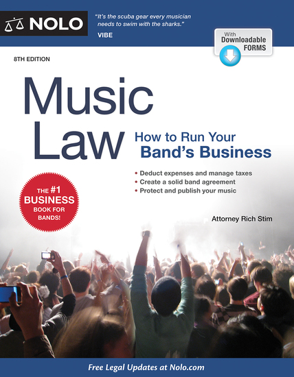 Music Law - How to Run Your Band's Business - cover
