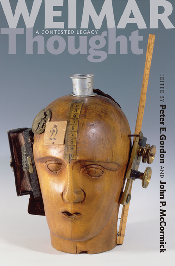 Weimar Thought - A Contested Legacy - cover