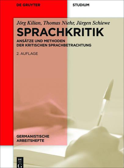 Sprachkritik - Ansätze und Methoden der kritischen Sprachbetrachtung - cover
