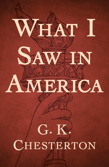 What I Saw in America - cover