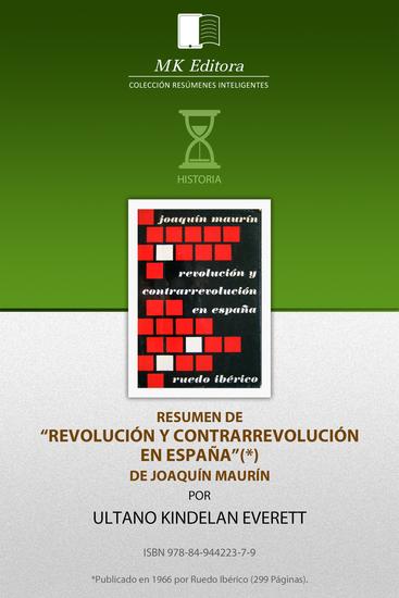 Resumen de Revolución y Contrarrevolución de Joaquin Maurin - cover