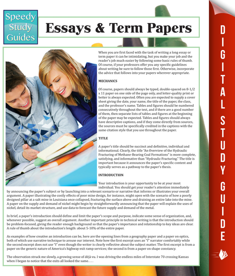 Essays & Term Papers - cover
