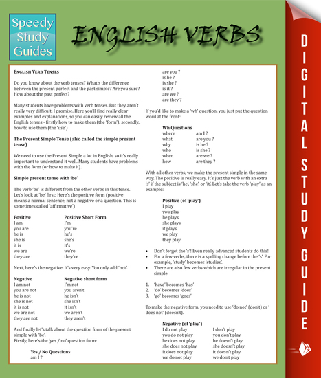 English Verbs - Speedy Study Guides - cover