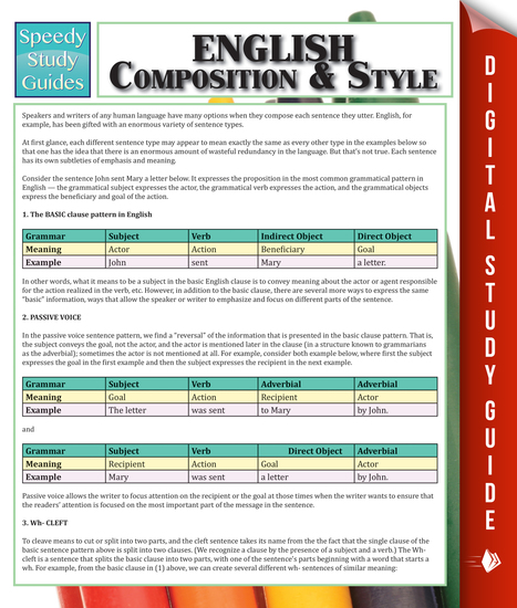 English Composition & Style - cover