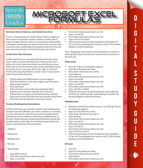 Microsoft Excel Formulas - cover