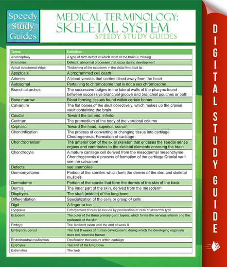 the skeletal system study guide