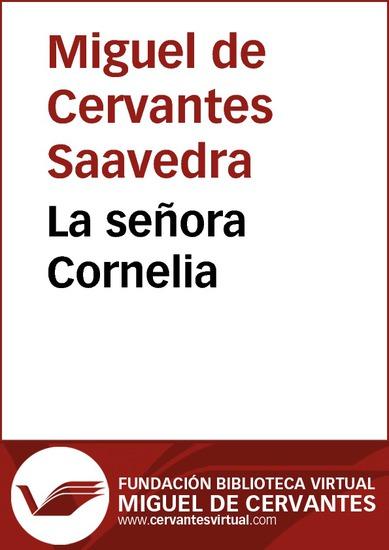 La señora Cornelia - cover