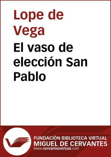 El vaso de elección San Pablo - cover