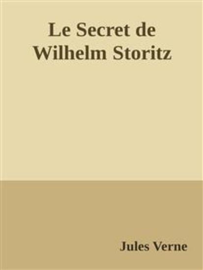 Le Secret de Wilhelm Storitz - cover