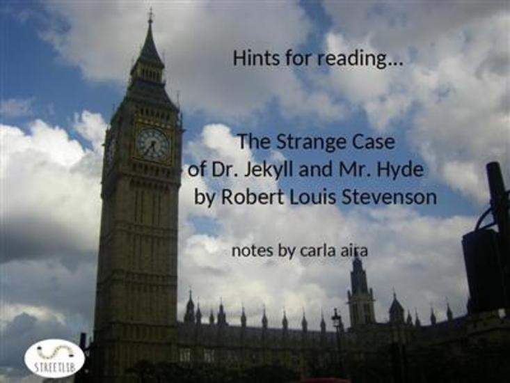Study Guide The Strange Case of Dr Jekyll and Mr Hyde - notes - cover