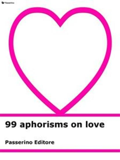 99 aphorisms on love - cover