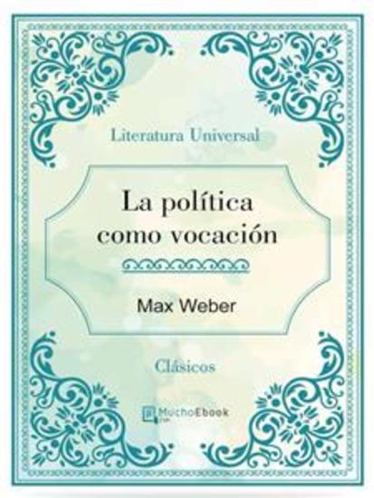 La política como vocación - cover