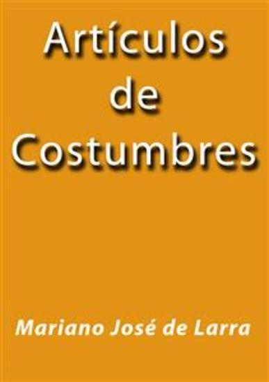 Articulos de Costumbres - cover