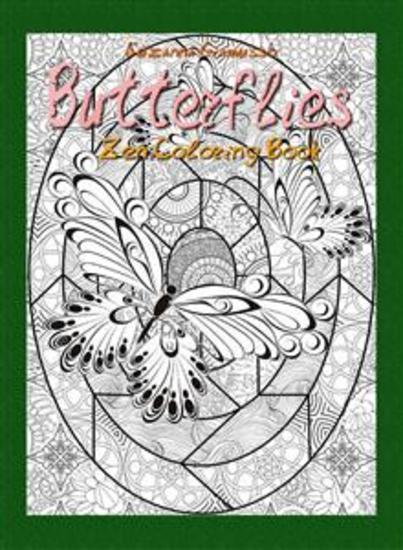 Butterflies: Zen Coloring Book - cover