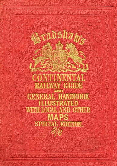 Bradshaw's Continental Railway Guide (full edition) - cover