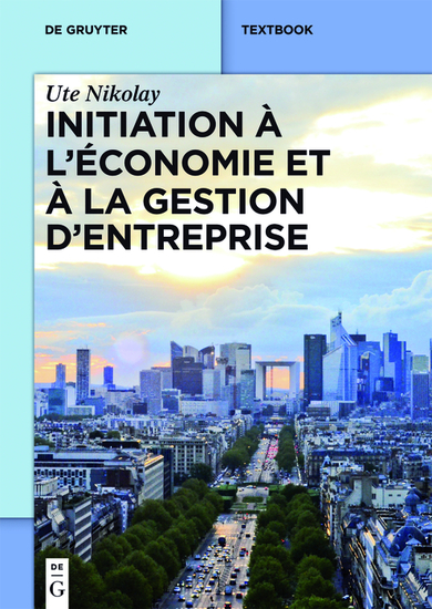 Initiation à l'économie et à la gestion d'entreprise - cover