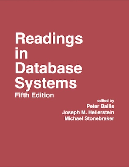 Readings in Database Systems Fifth Edition - cover