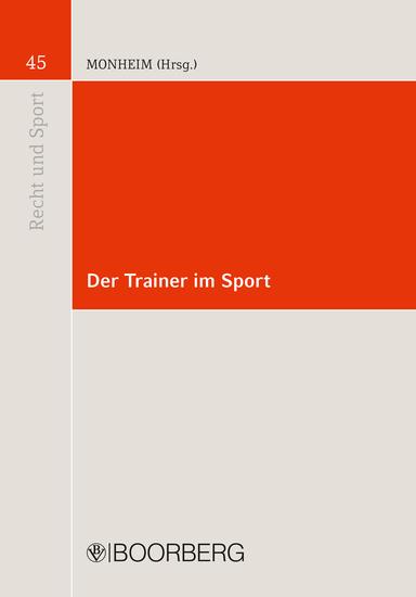 Der Trainer im Sport - cover