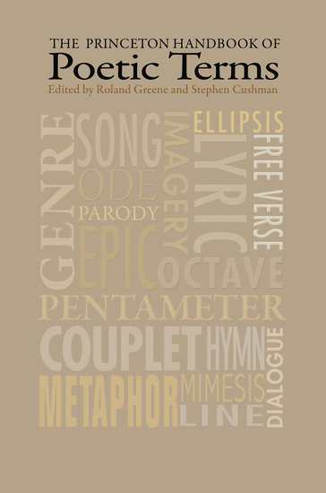 The Princeton Handbook of Poetic Terms - Third Edition - cover