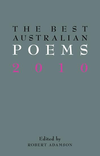 The Best Australian Poems 2010 - cover