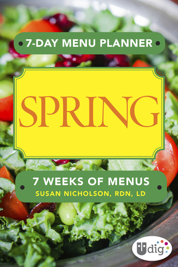 7-Day Menu Planner: Spring - cover