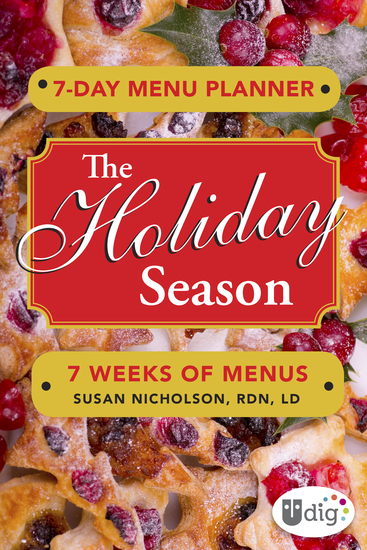 7-Day Menu Planner: The Holiday Season - 7 Weeks of Meals - cover