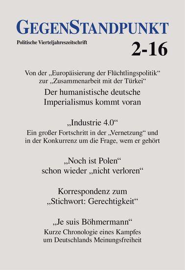 GegenStandpunkt 2-16 - Politische Vierteljahreszeitschrift - cover